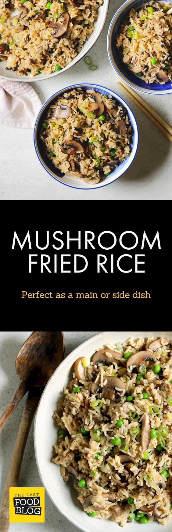 Mushroom Fried Rice - thelastfoodblog.com