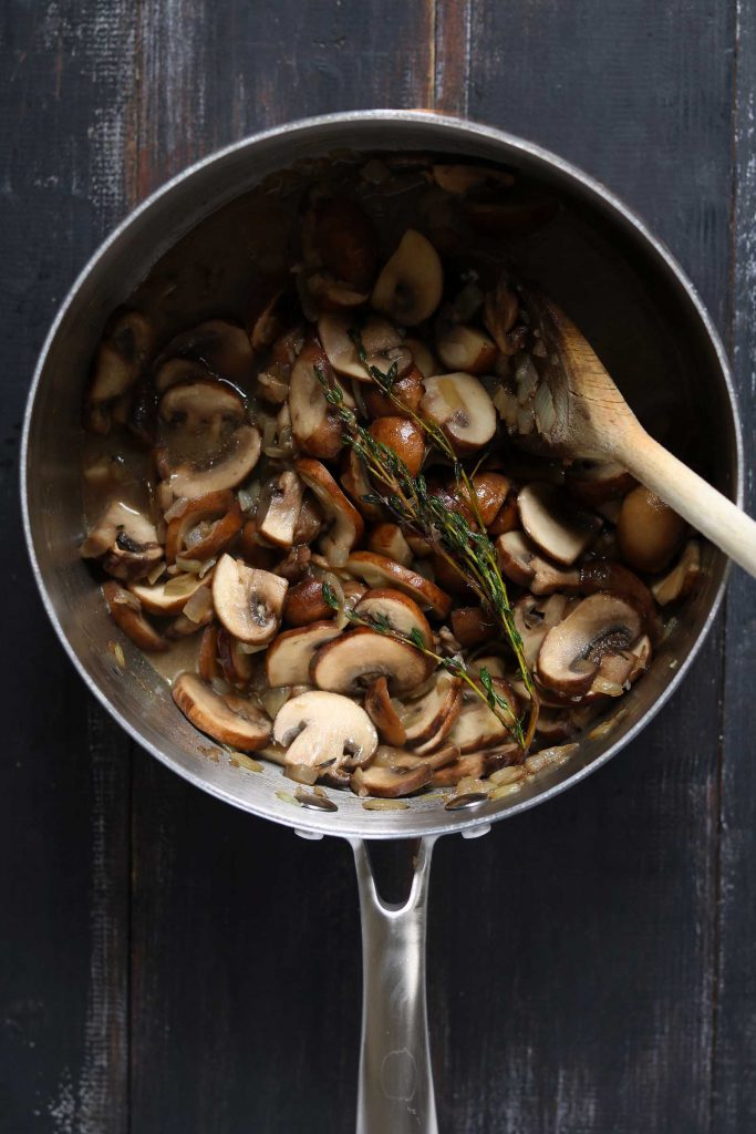 Mushrooms in pan