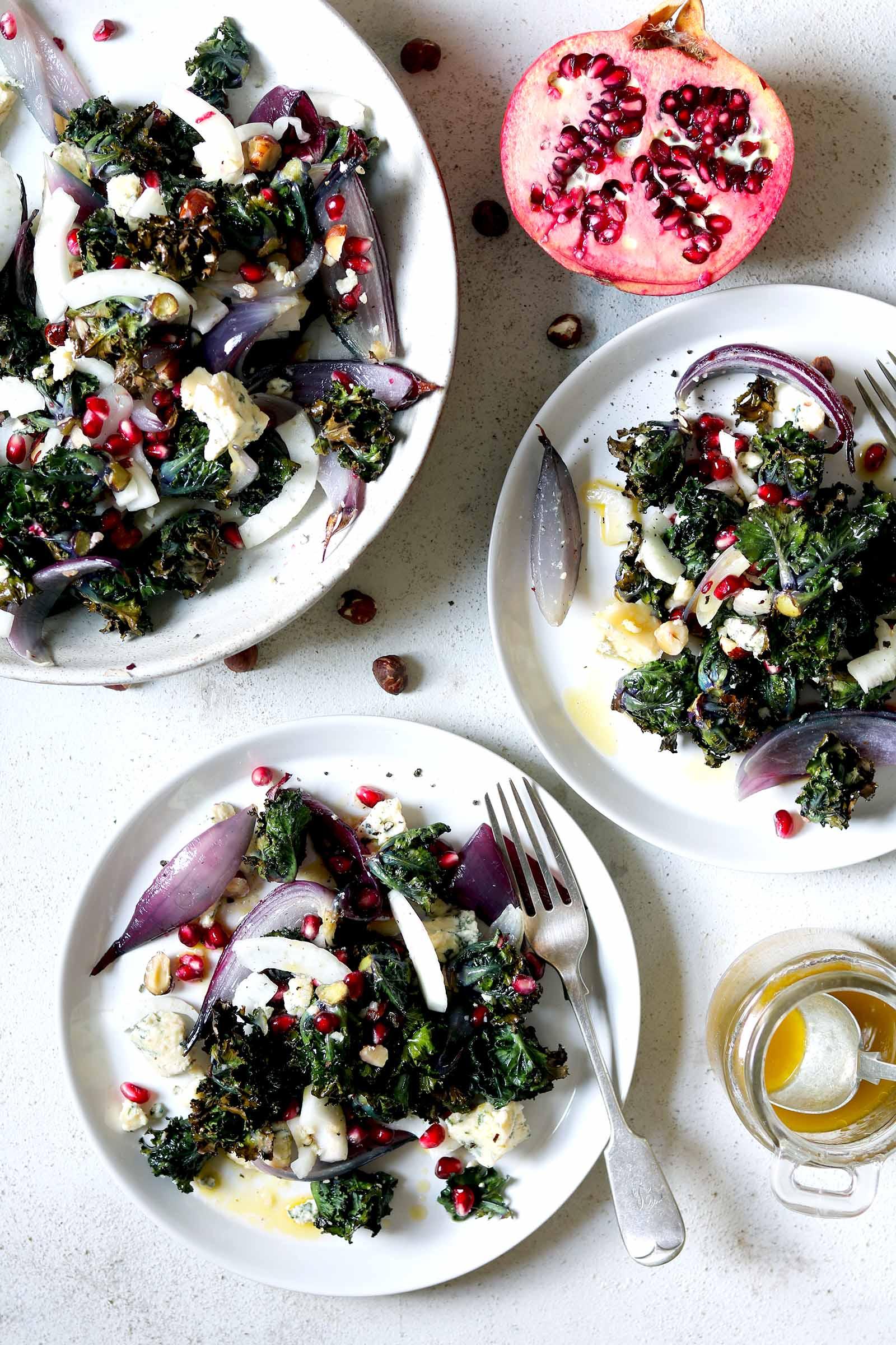 Winter Salad of Roasted Kalettes and Stilton