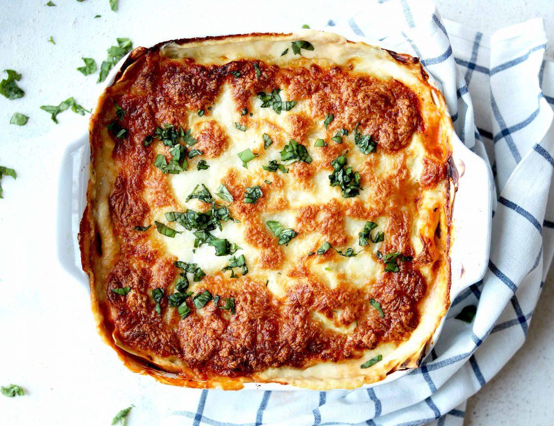 Lasagna in dish