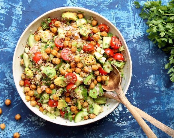 Recipe index the last food blog avocado quinoa salad with spiced chickpeas forumfinder Images