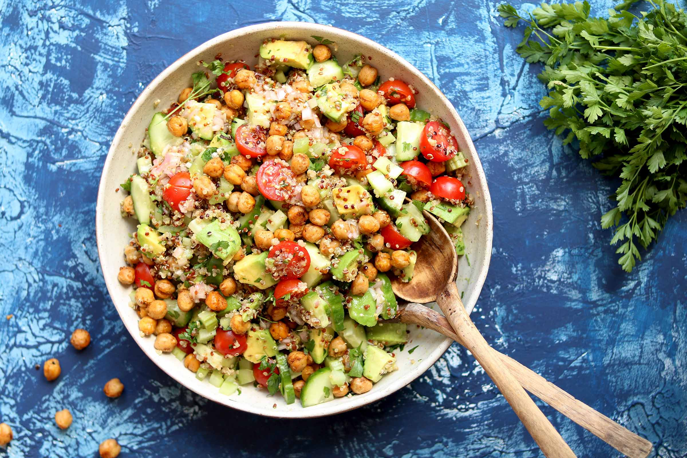 Avocado Quinoa Salad with Spiced Chickpeas