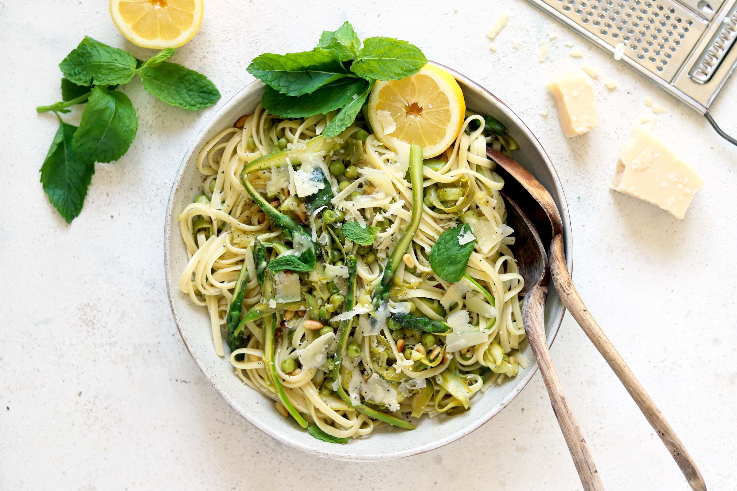 Asparagus Pasta with Lemon and Mint