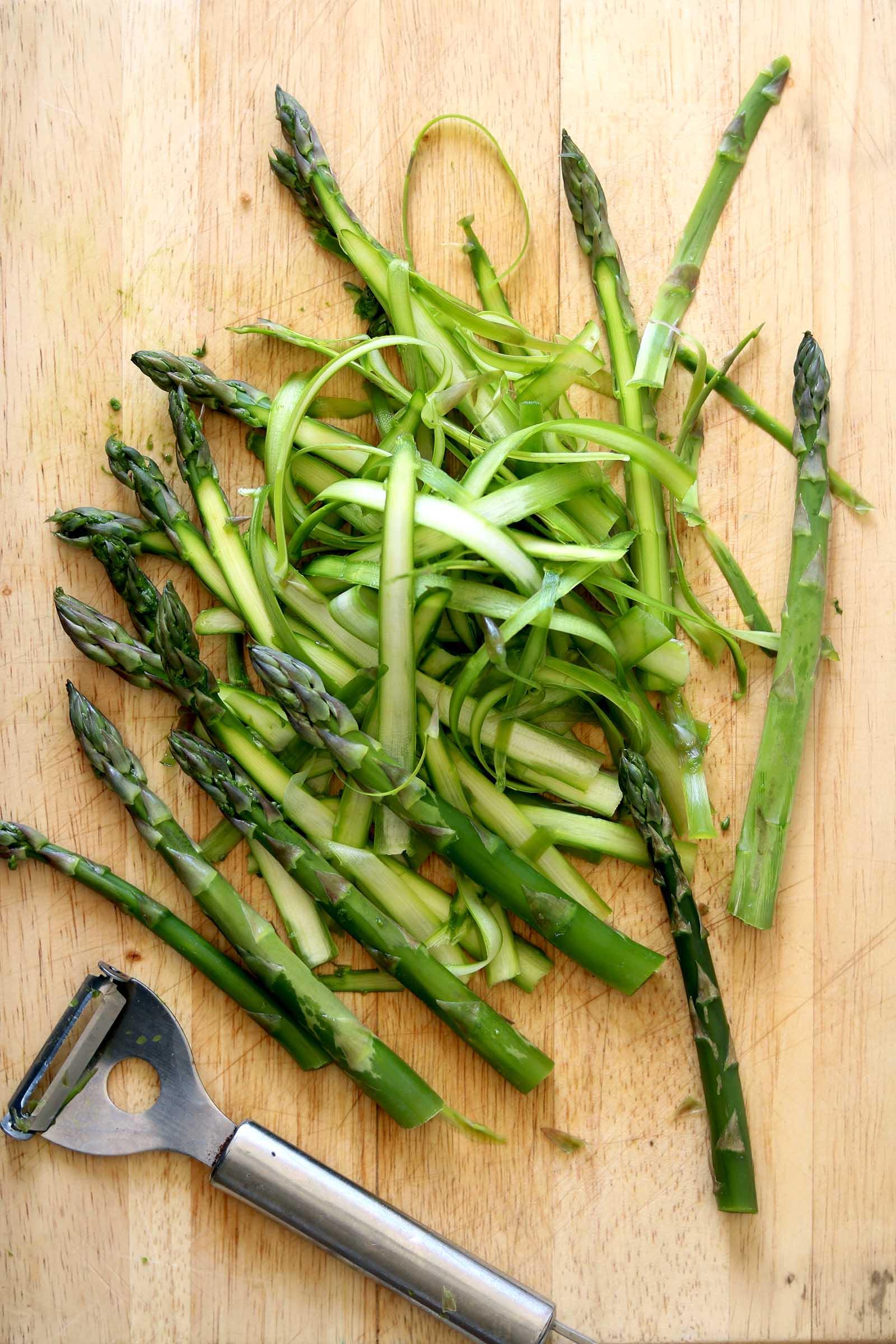 asparagus pasta shavings