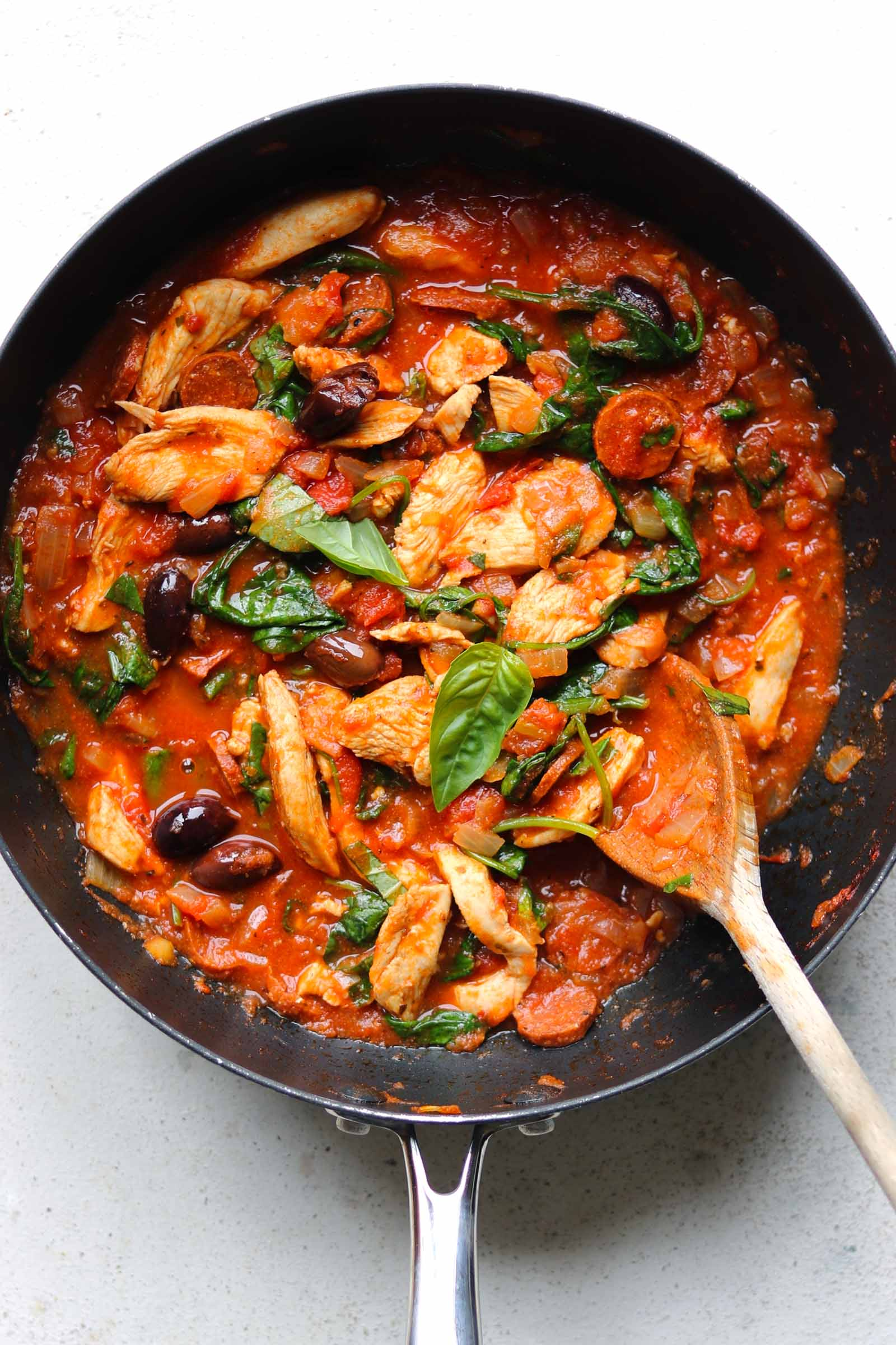 chicken and chorizo pasta