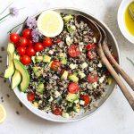 Quinoa Lentil Salad in bowl
