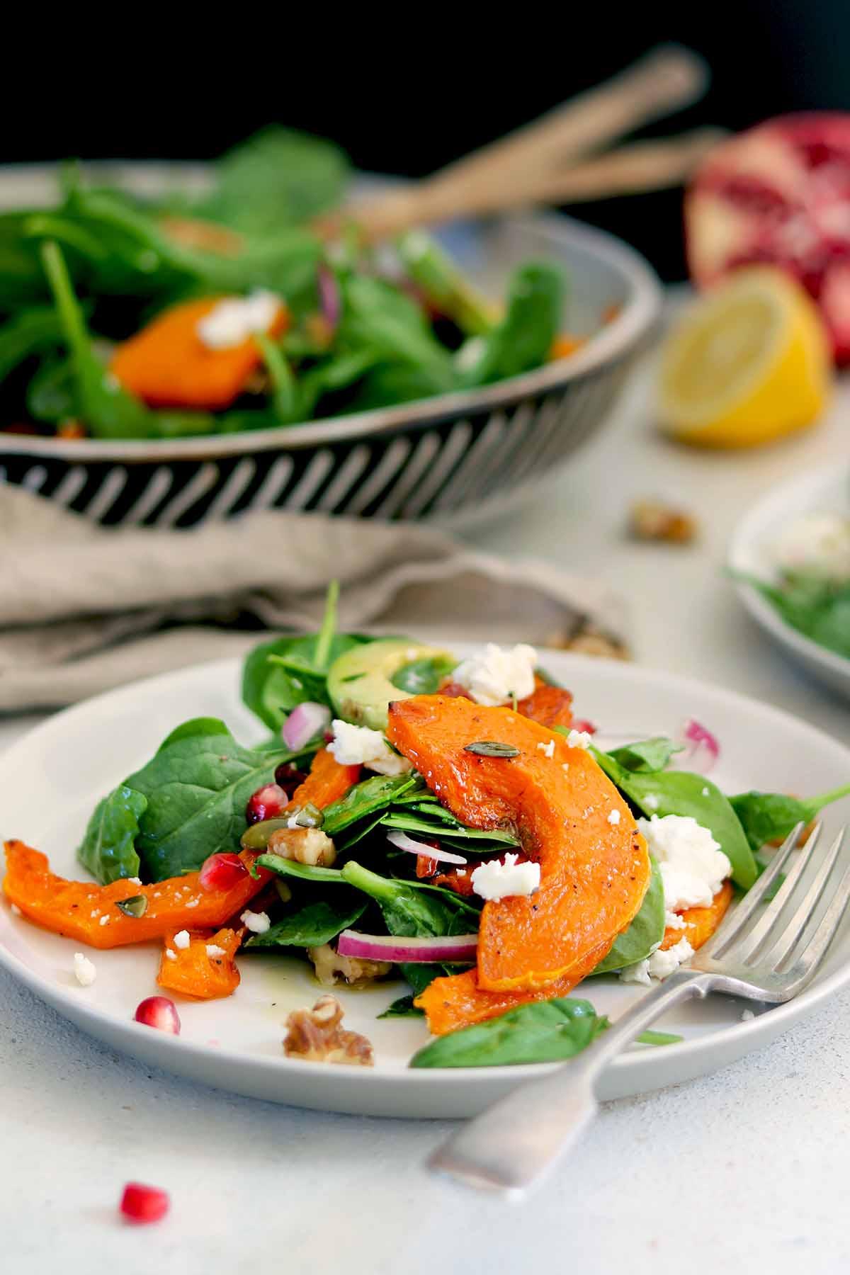 butternut squash salad plate