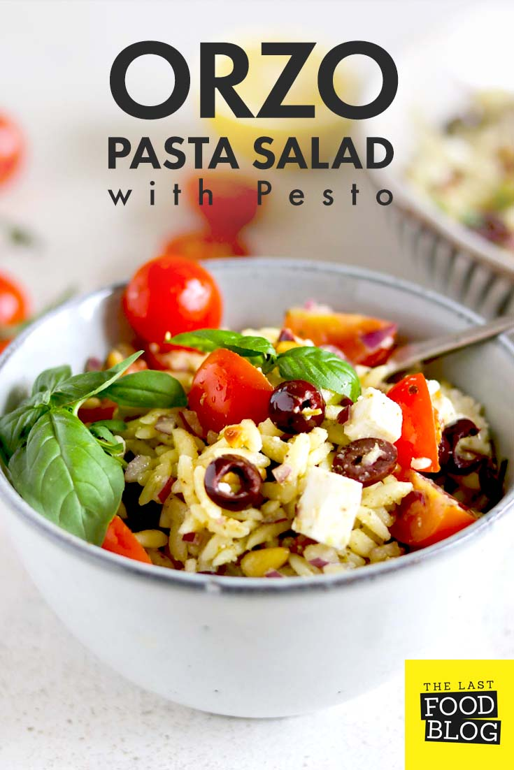 Orzo Pasta Salad with Pesto