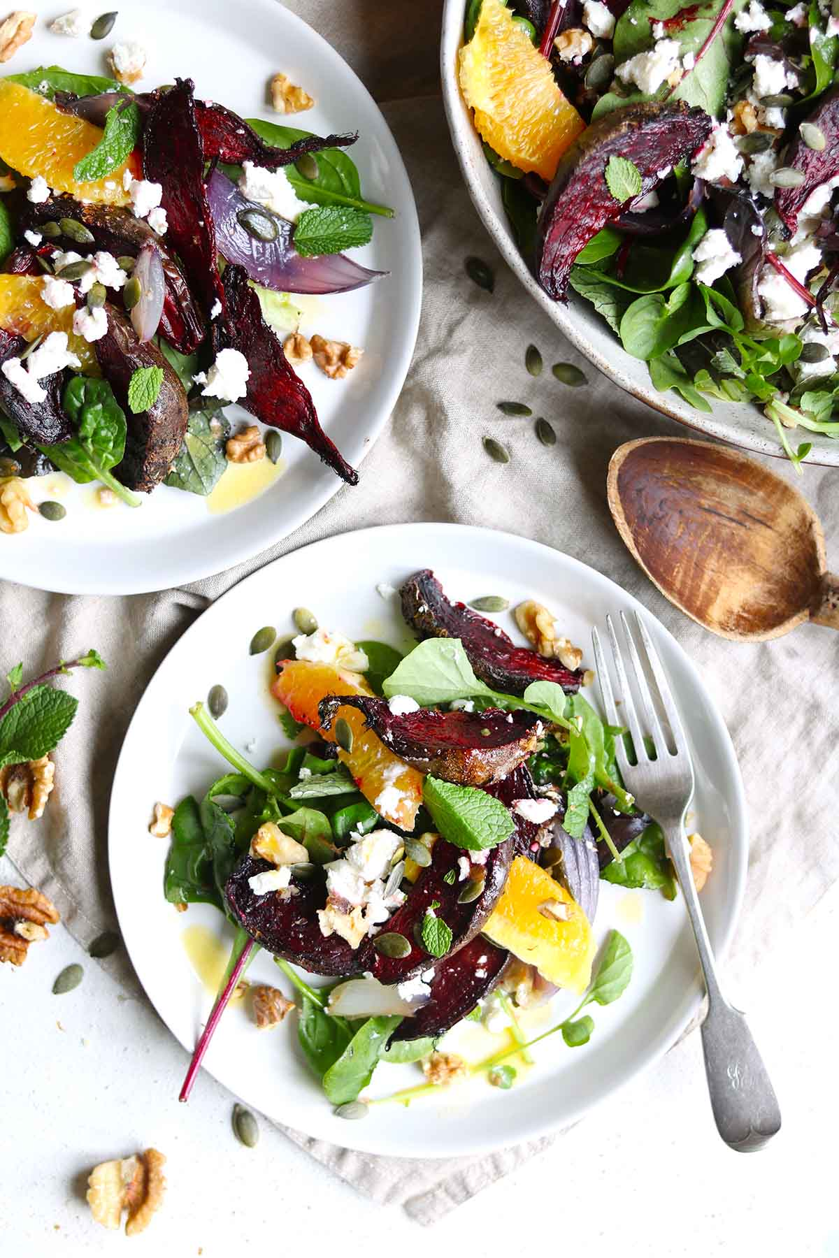 Roasted beetroot salad close alternative