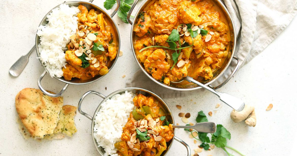 cauliflower and chickpea curry - LS