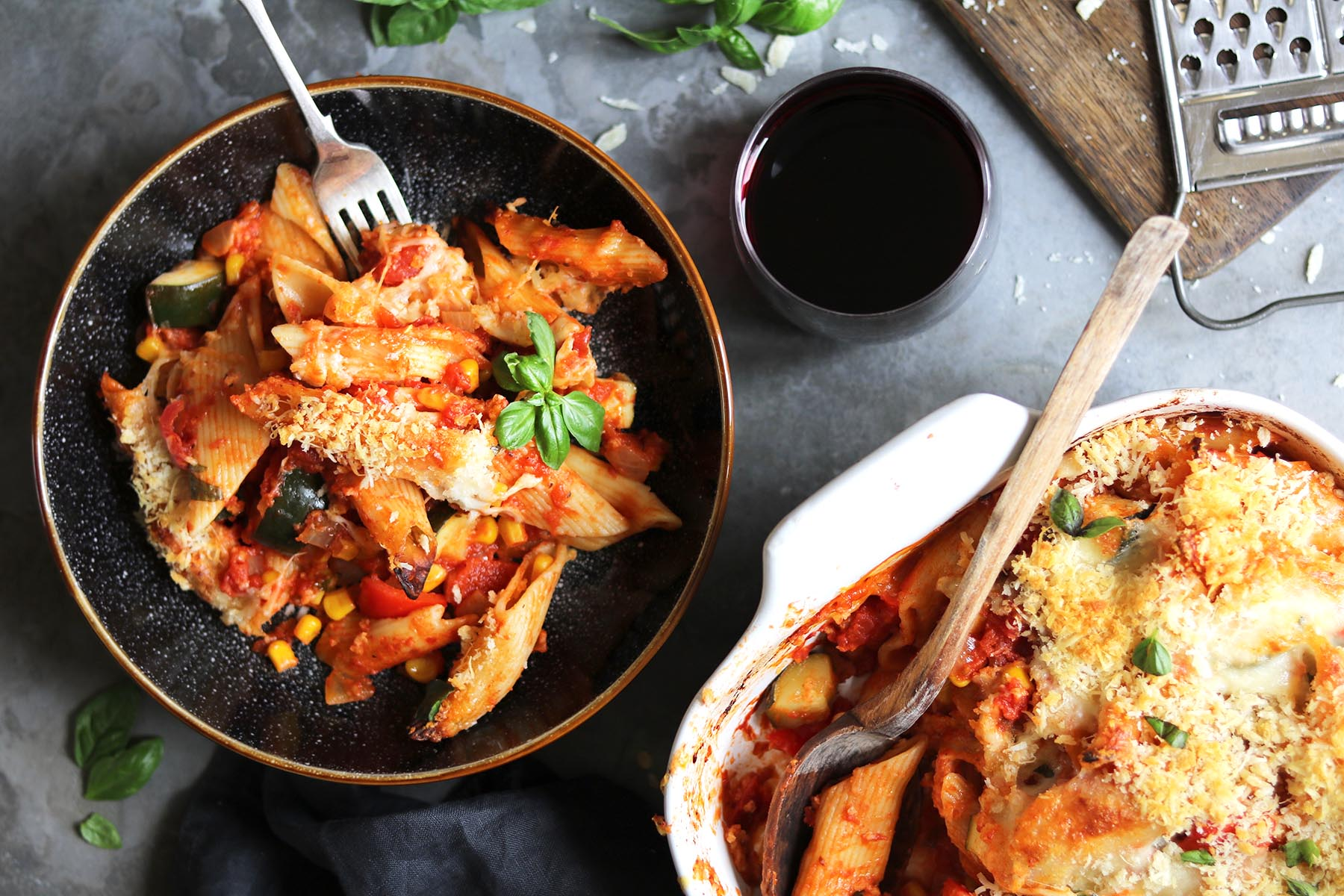 vegetable pasta bake LS