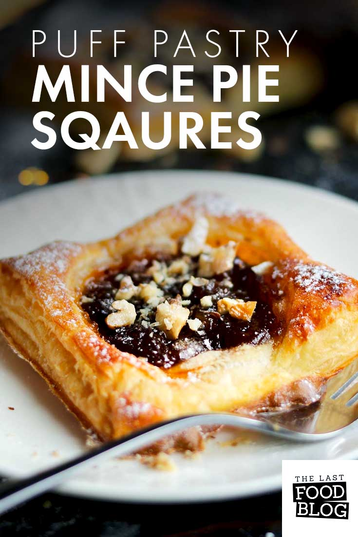 Puff Pastry Mince Pie Squares #Christmas #PuffPastry #MincePies
