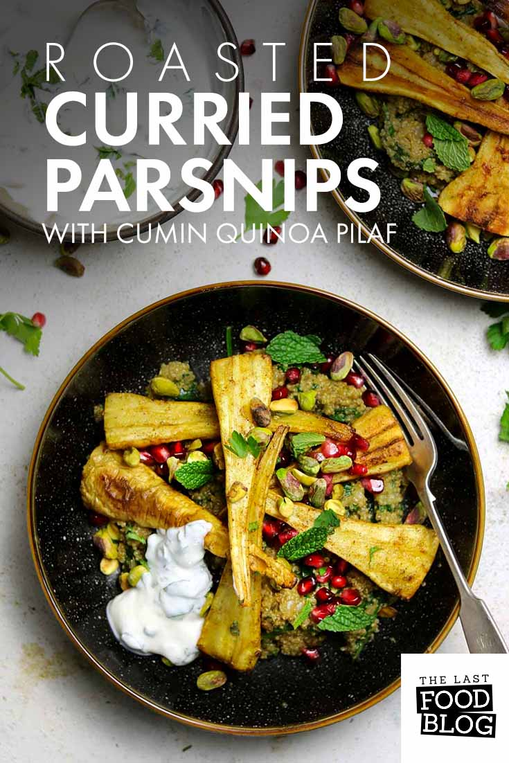 Roasted Curried Parsnips