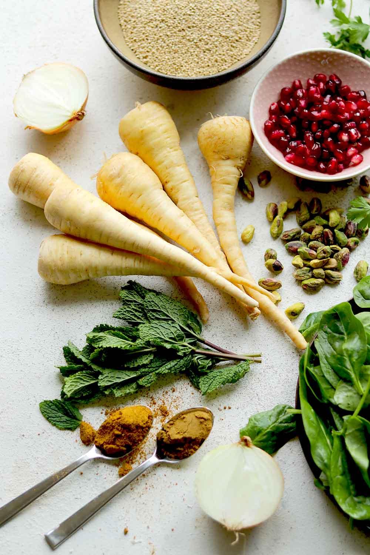 curried parsnip ingredients
