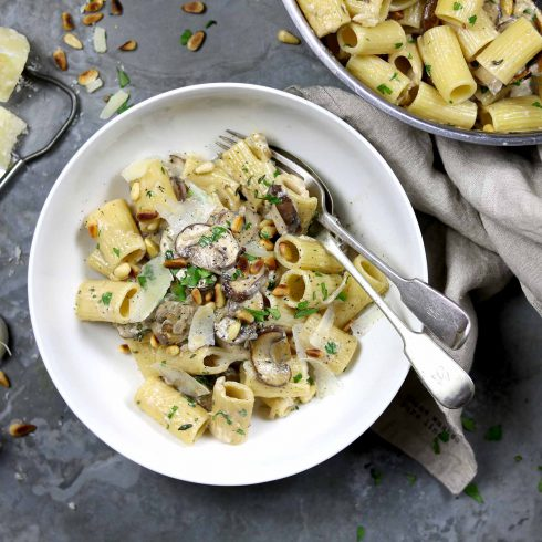 garlic mushroom pasta LS