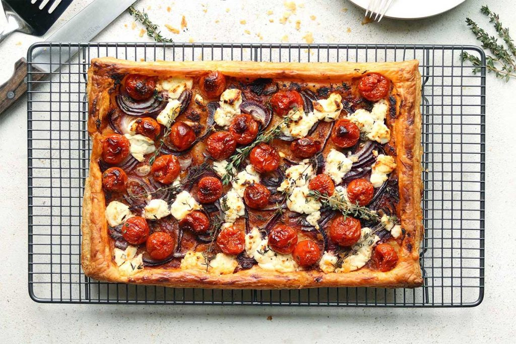Goat's Cheese Tart with Roasted Cherry Tomatoes