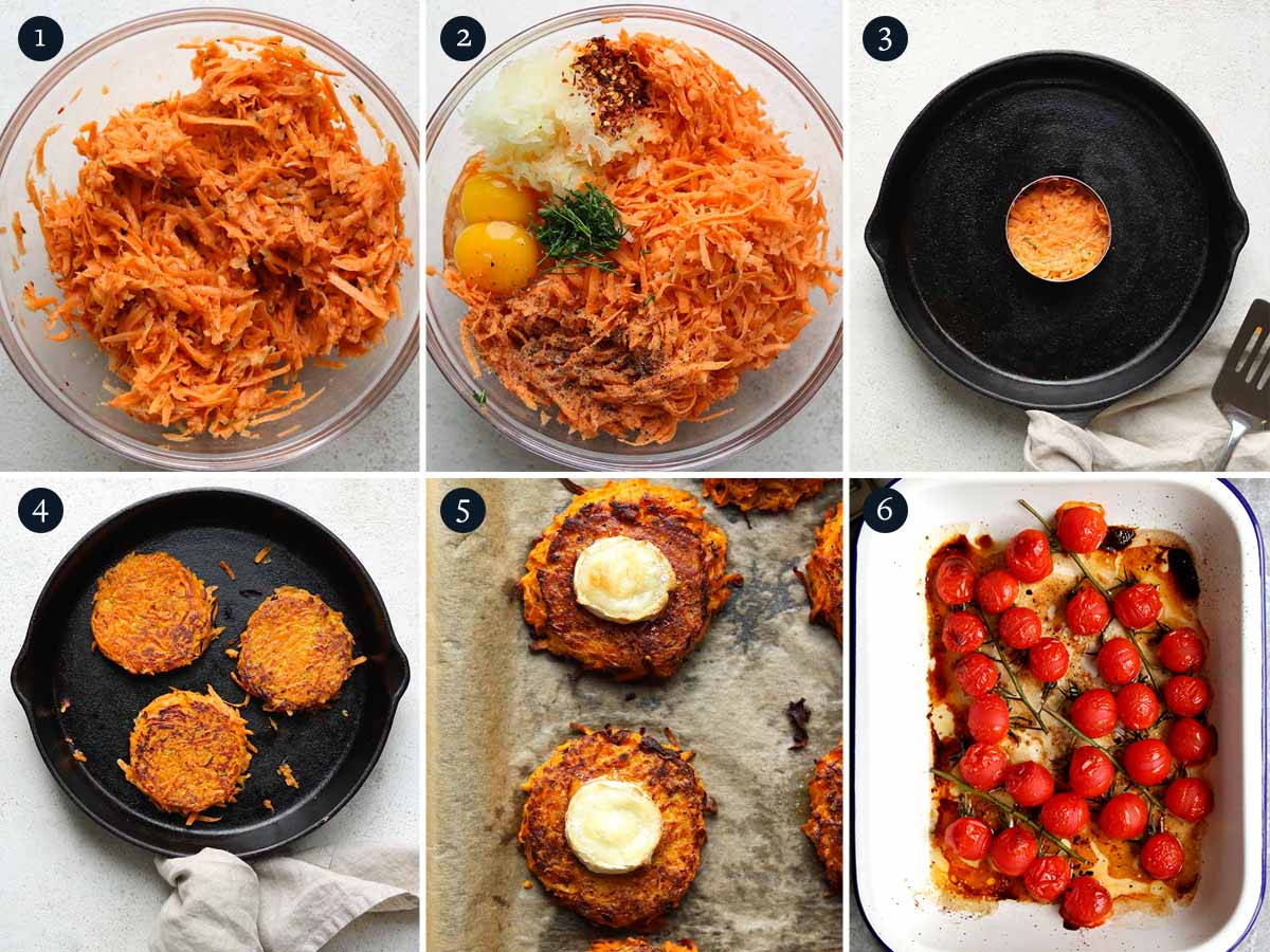 step by step process to cook sweet potato rosti