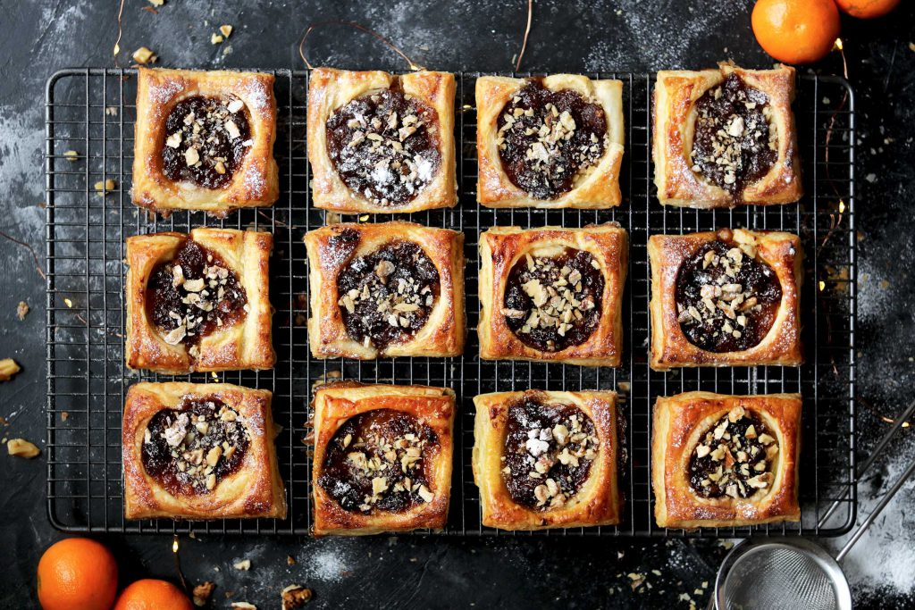 puff pastry mince pie squares