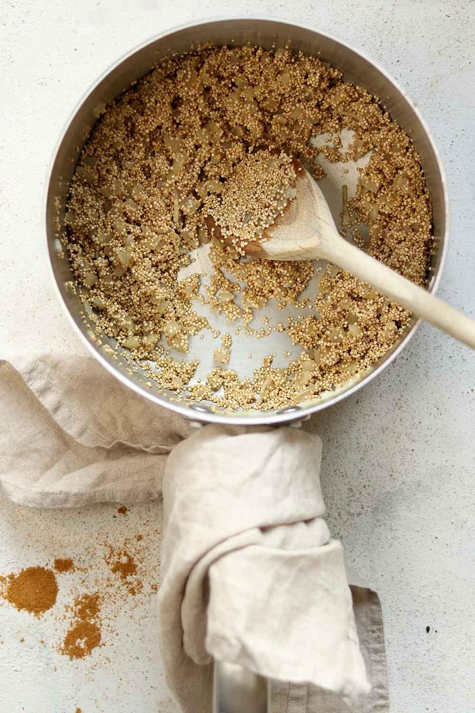 quinoa and onions
