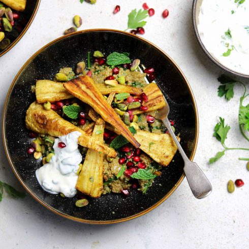 roasted curried parsnips LS