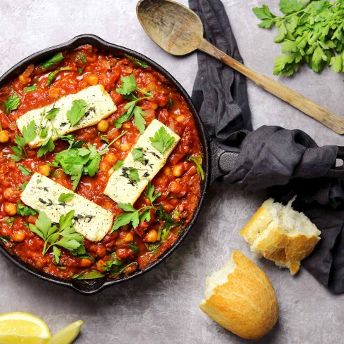 Baked Feta with Chickpeas - landscape