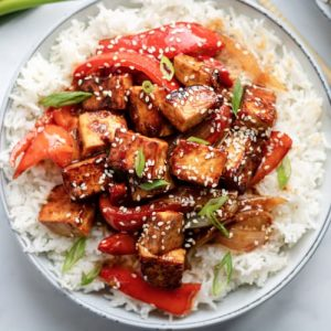 Sesame Tofu with Peppers