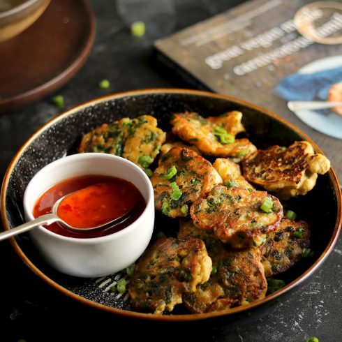vegetable fritters - with chilli sauce