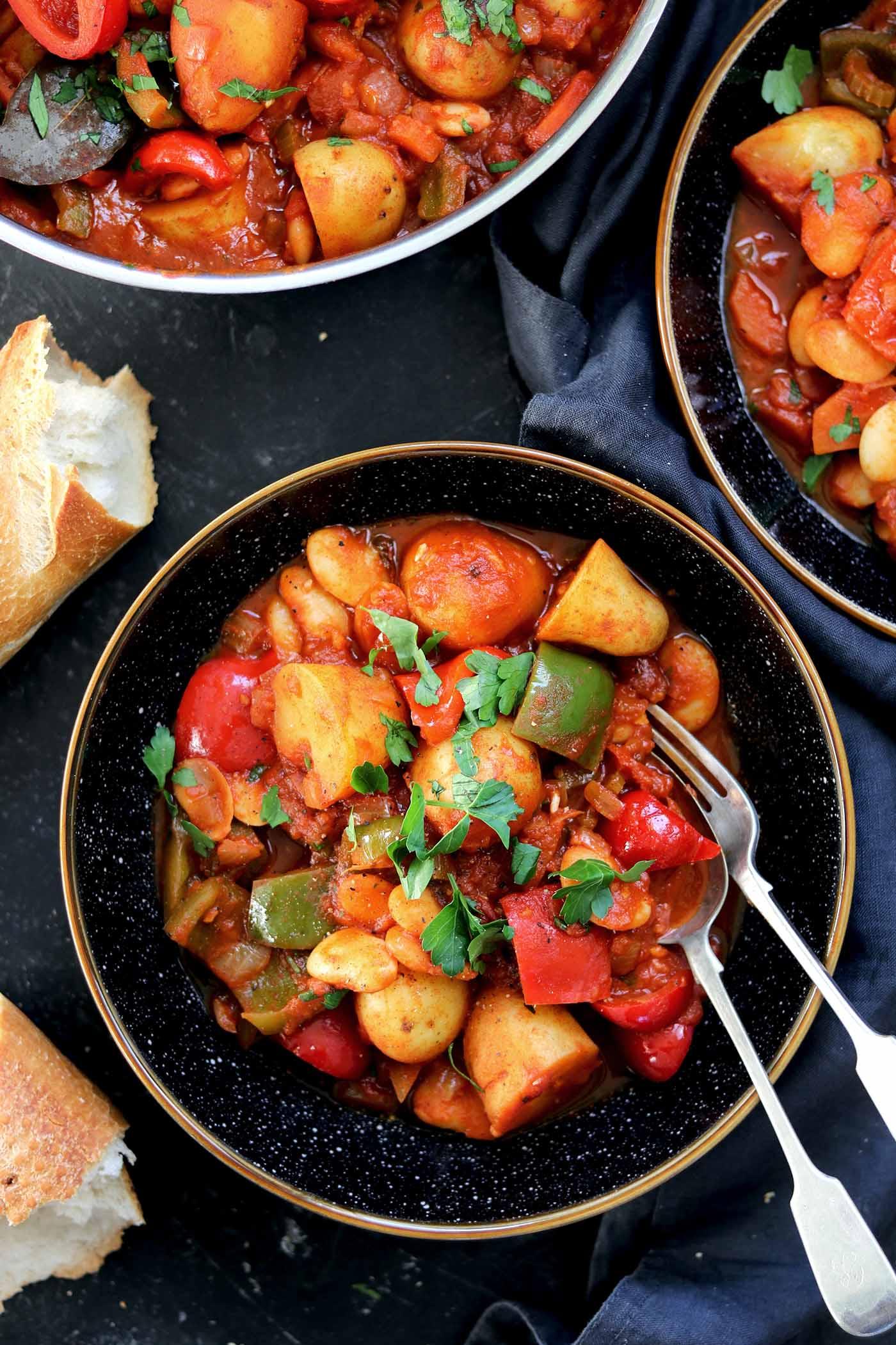 vegetarian goulash bowl