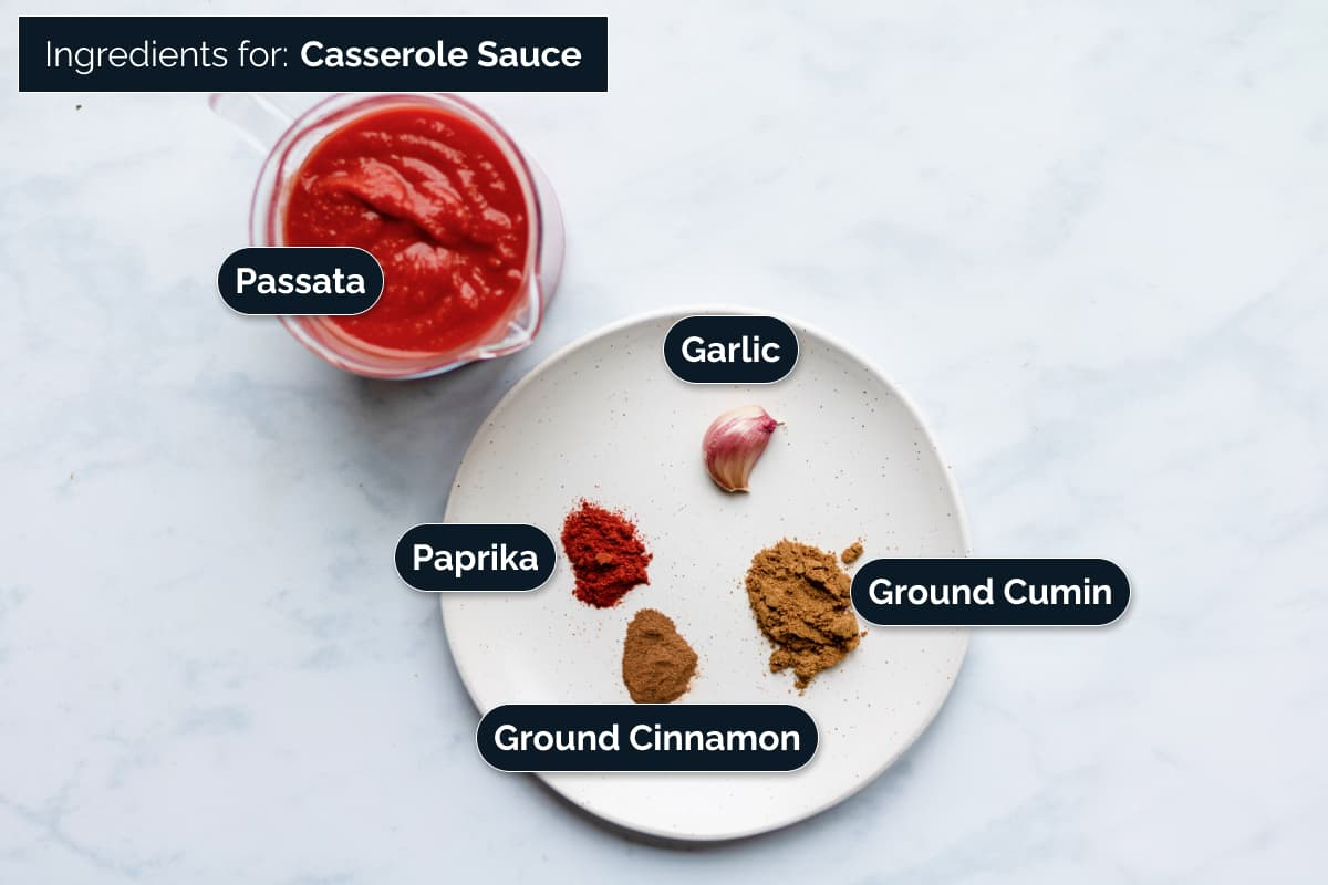 Ingredients for Casserole Sauce