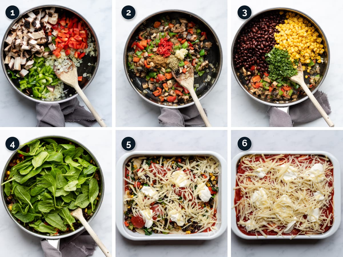 Step by step process for making the Casserole
