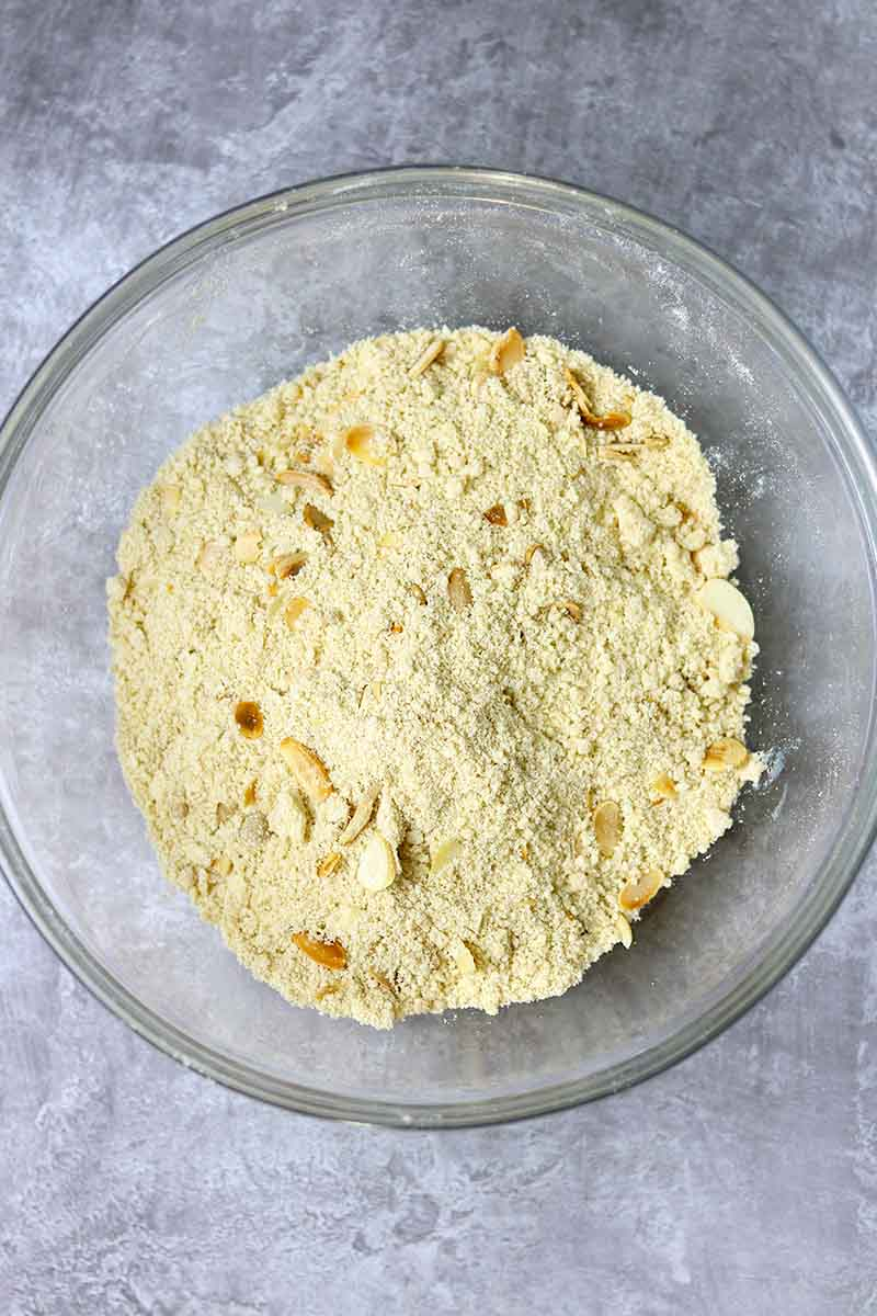 crumble mixture in bowl