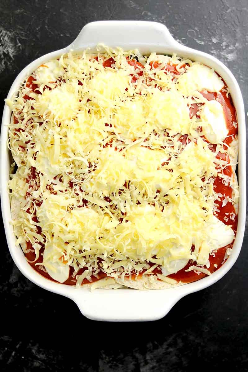 vegetarian casserole uncooked