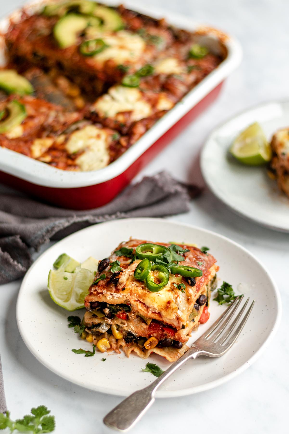 veggie enchilada casserole with black beans