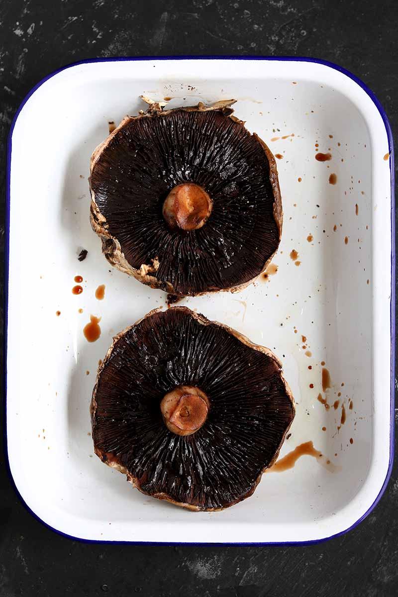 Portobello Mushrooms cooked in tray