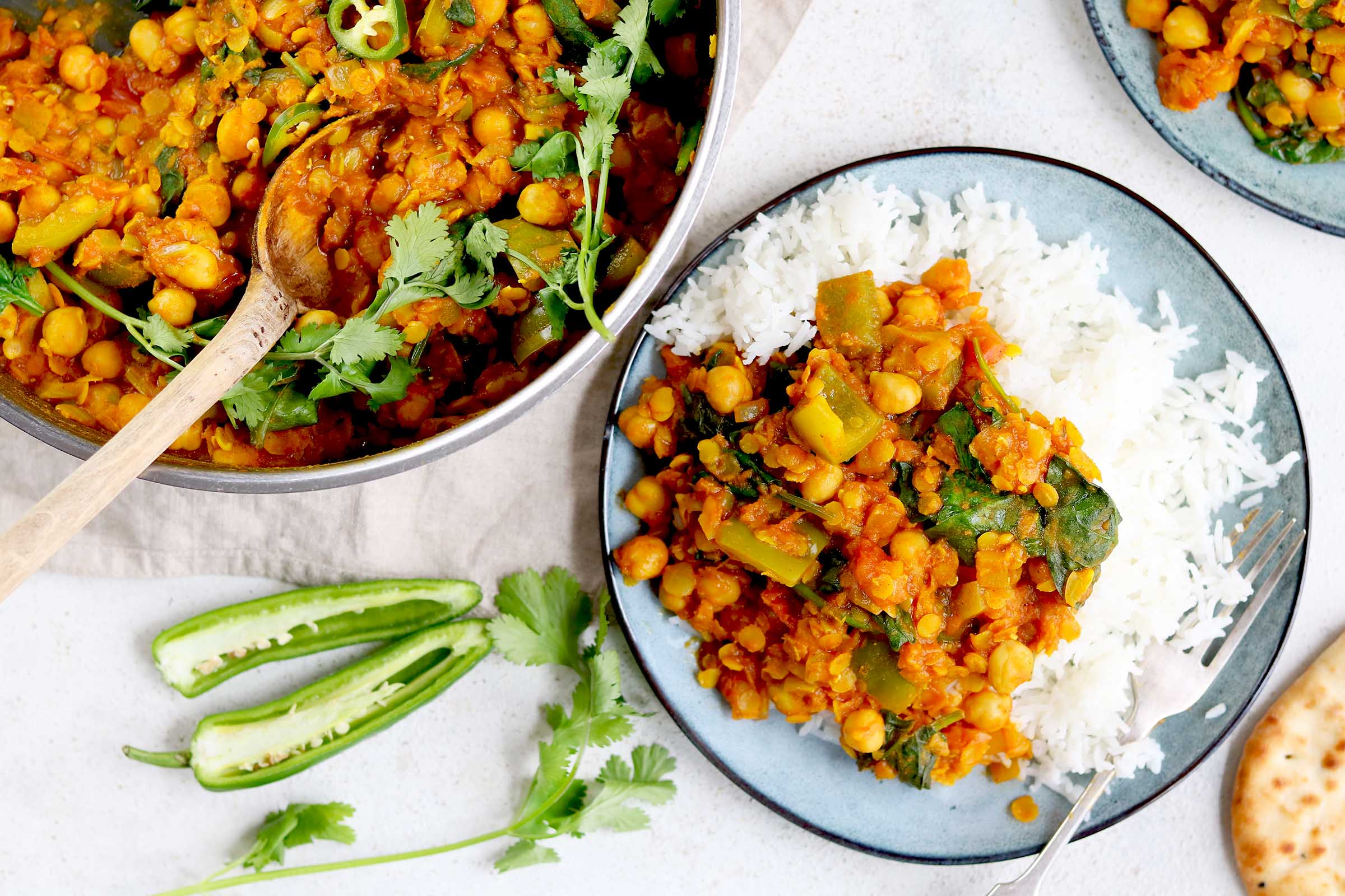 chickpea and lentil curry landscape