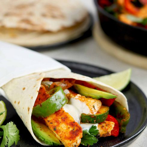 halloumi fajitas side on