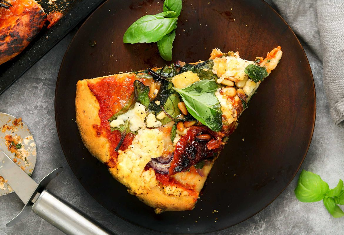 Spinach and Feta Pizza