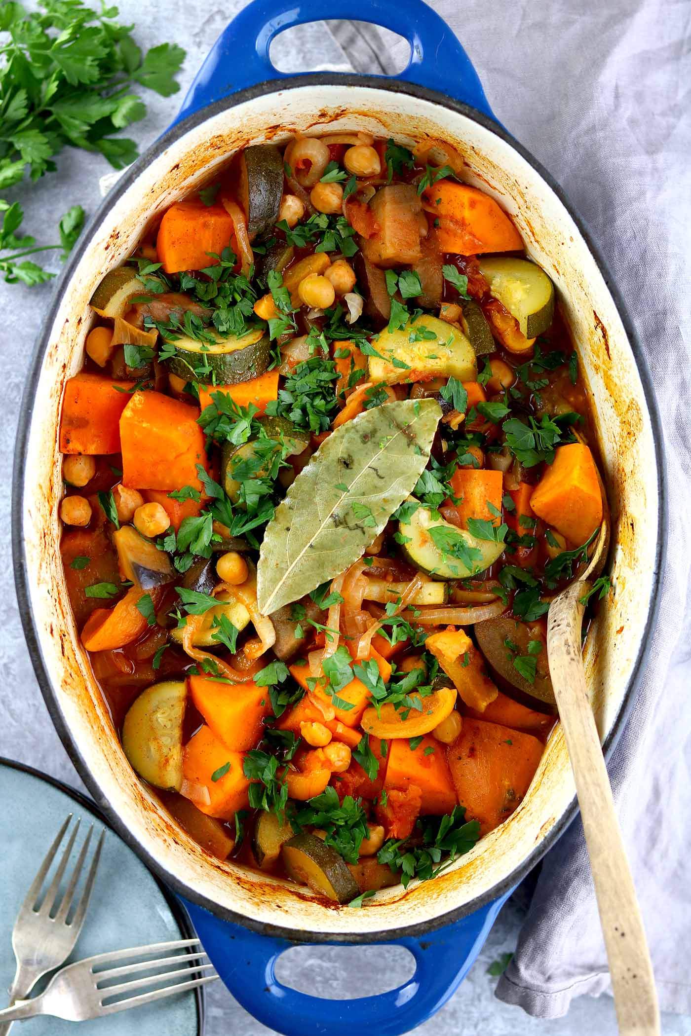 vegetable tagine in pot