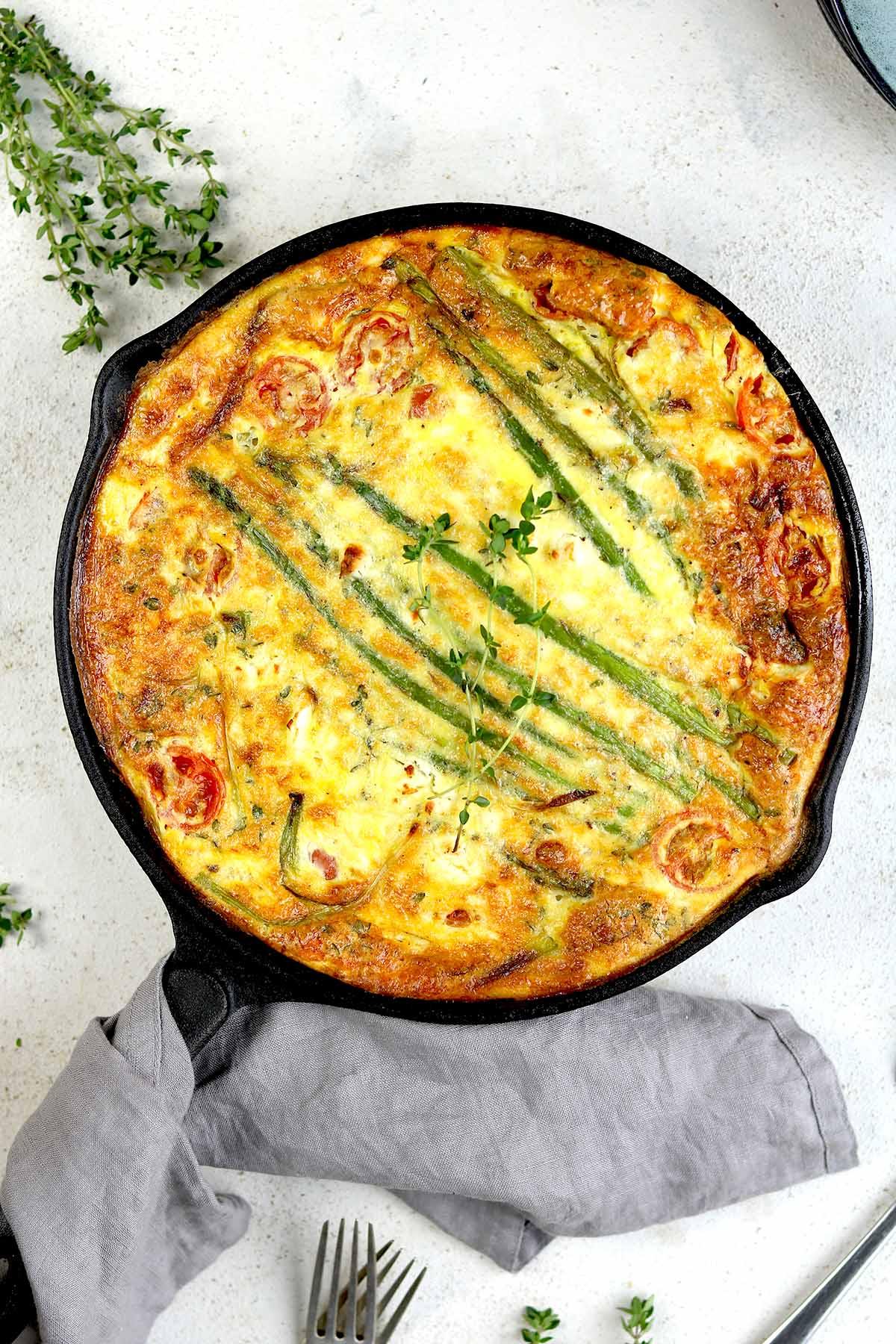 Asparagus And Feta Baked Frittata The Last Food Blog