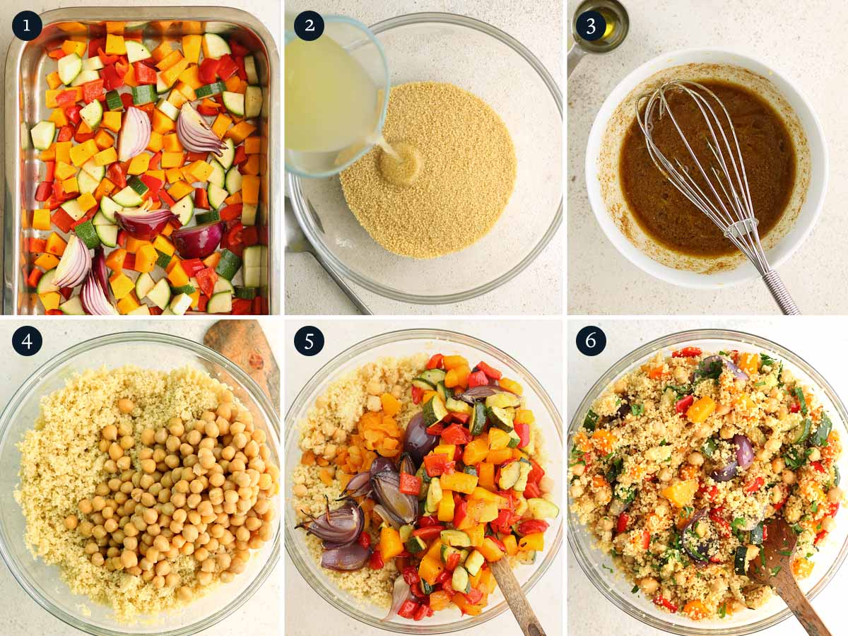 Step by step process for making Moroccan Couscous