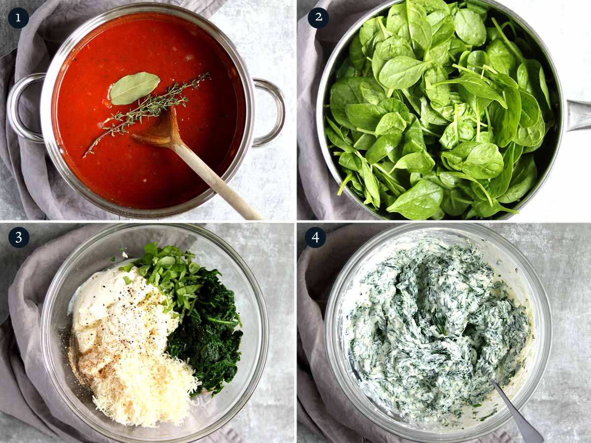 Step by step guide on how to make Spinach and Ricotta Pasta Bake