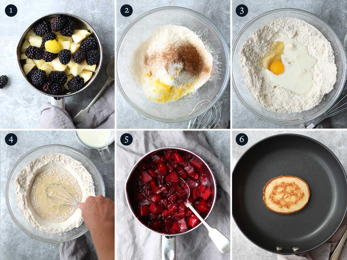 step by step process on making drop scones