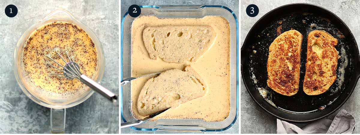 Process for making Sourdough French Toast