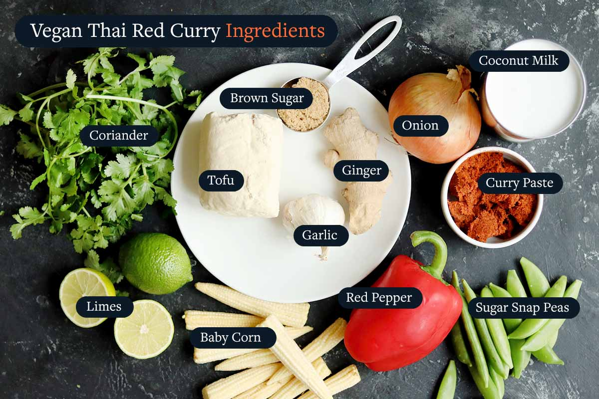 Ingredients for making Thai Curry