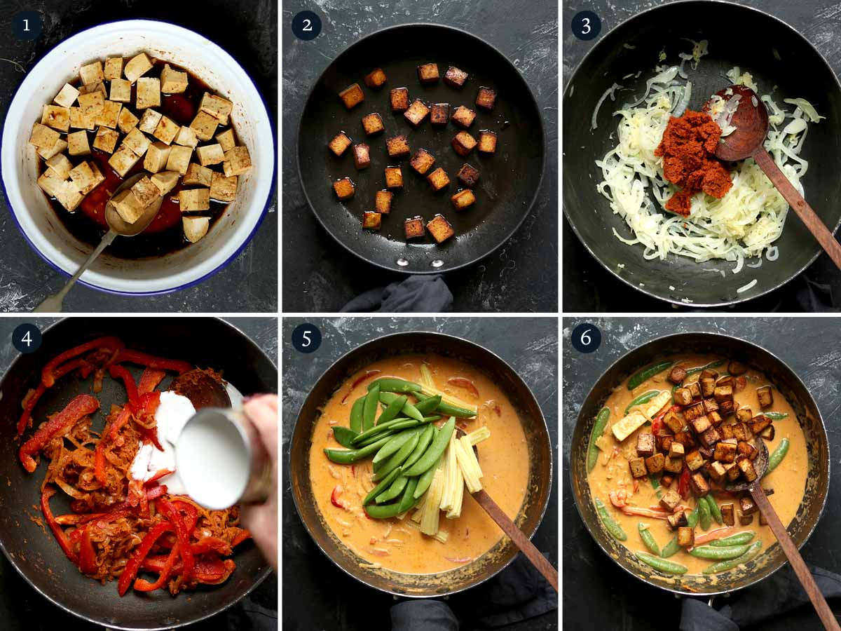 Step by step process for making Thai Curry