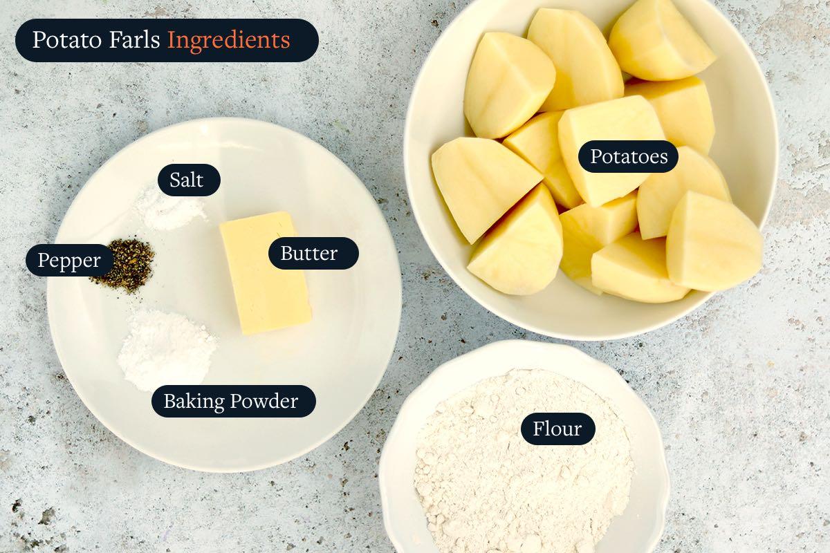 Ingredients for making Potato Farls