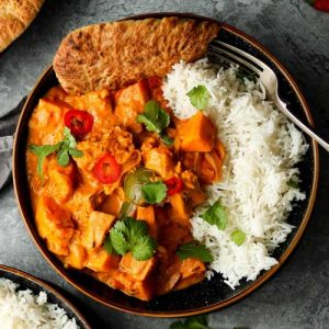 Jackfruit Curry with Sweet Potatoes