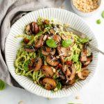 Mushroom Pesto Pasta
