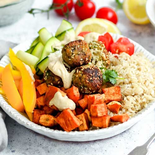 Falafel Bowls With Tahini Sauce The Last Food Blog