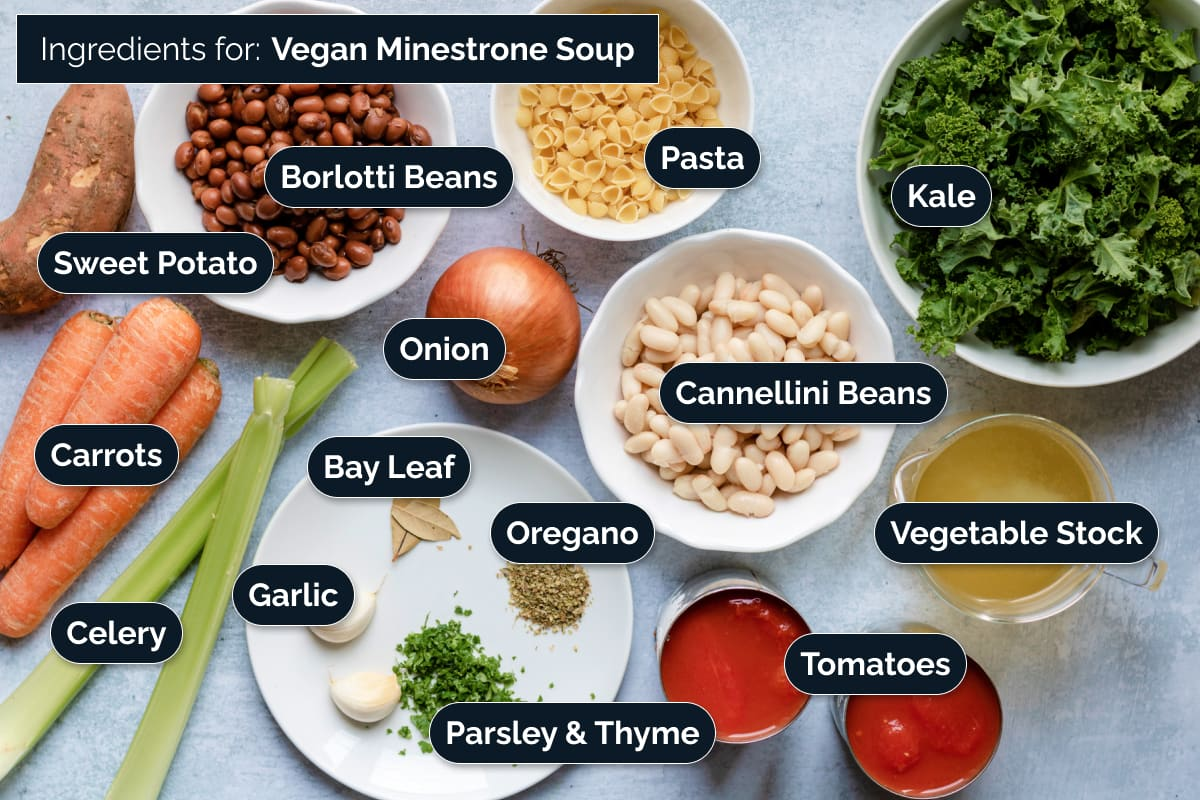Ingredients for making Minestrone Soup
